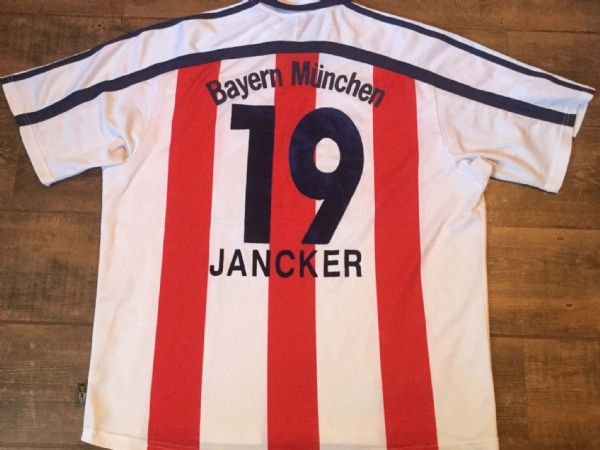 2000 2001 Bayern Munich Jancker Away Football Shirt Adults XXL